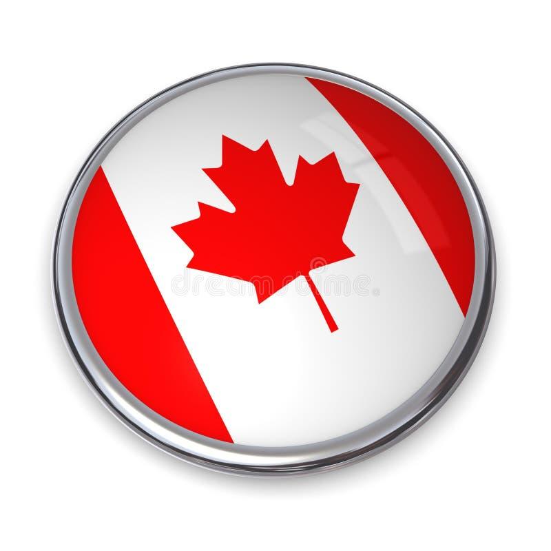 Fahnen-Taste Kanada stock abbildung