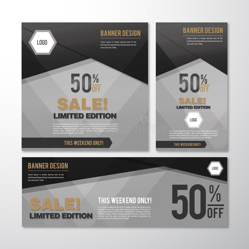 Fahnen-Verkauf stock abbildung