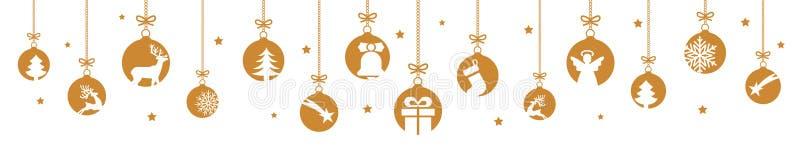 Fahnen von den verschiedenen Weihnachtsbällen E vektor abbildung