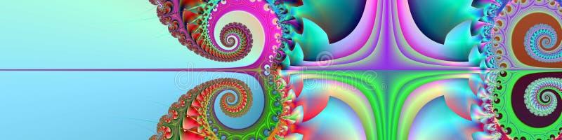 Fahnen-/Vorsatz glückliche Sommerzeit vektor abbildung