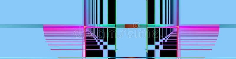 Fahnen-/Vorsatzperspektive und right-angled stock abbildung