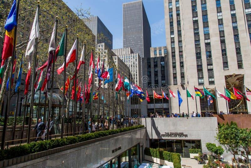 Fahnenmasten in NYC lizenzfreie stockfotografie