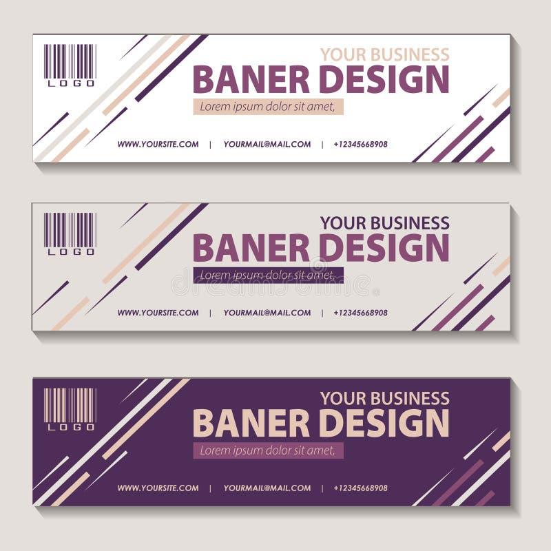 Fahnenproduktkampagnen-Entwurfsvektor lizenzfreie abbildung