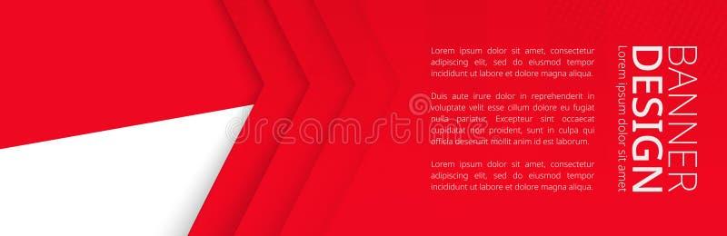 Fahnenschablone mit Flagge von Indonesien für Werbungsreise, -geschäft und -anderes stock abbildung