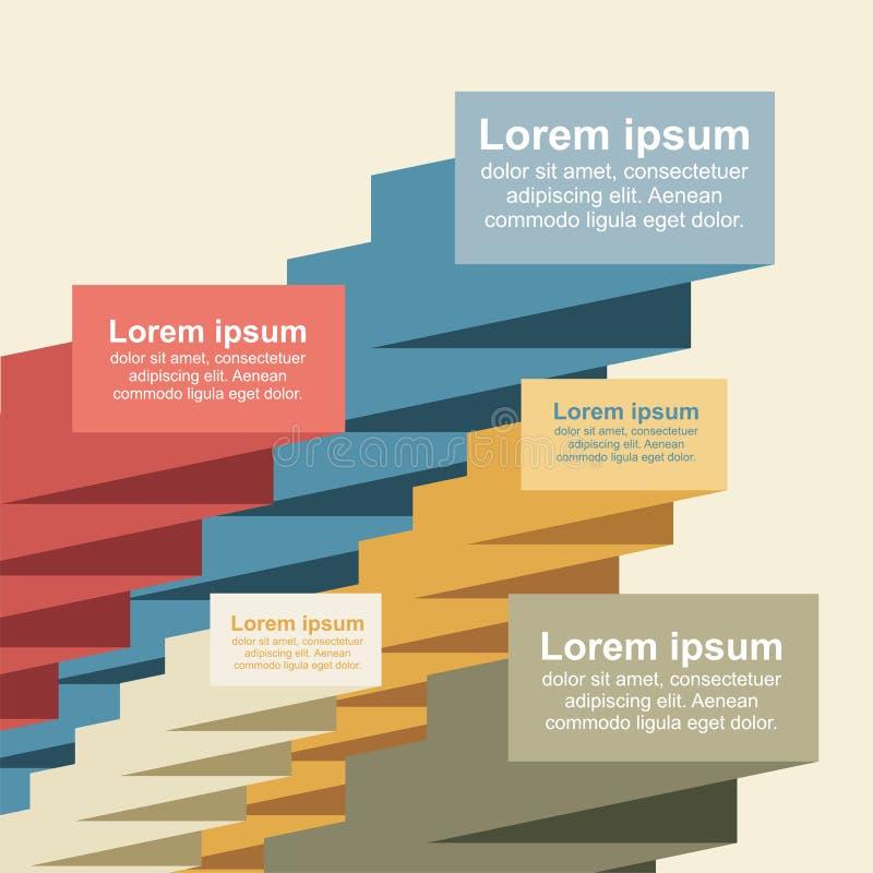 Fahnenschablone mit Platz für Ihren Text Vektor lizenzfreie abbildung