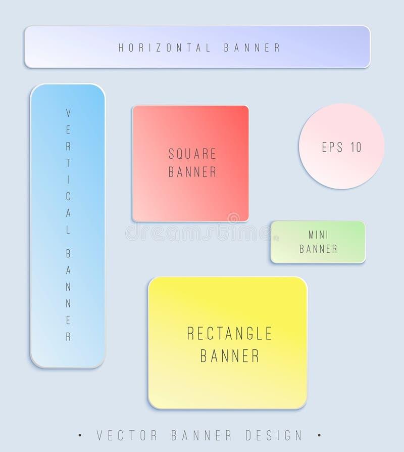 Fahnenschablonen-Designsatz stock abbildung