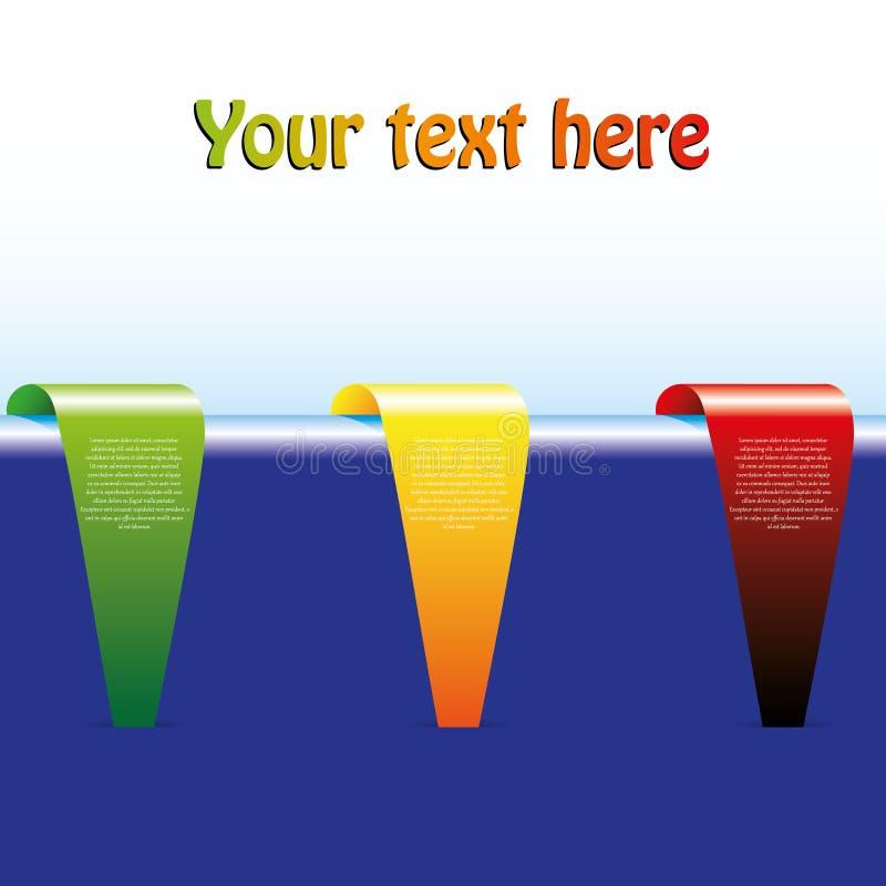 Fahnenset mit 3 Farben lizenzfreie abbildung