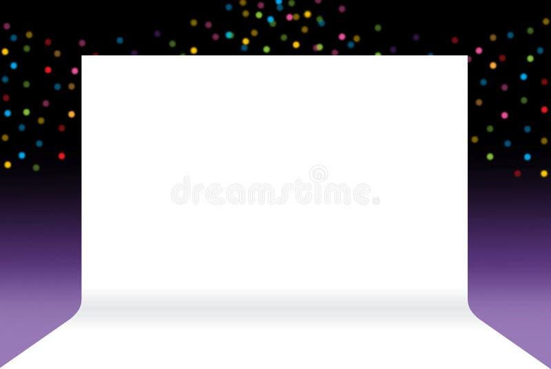 Fahnenstadium, Weißbuchfreier raum des Hintergrundstadiums auf Luxus-bokeh stock abbildung