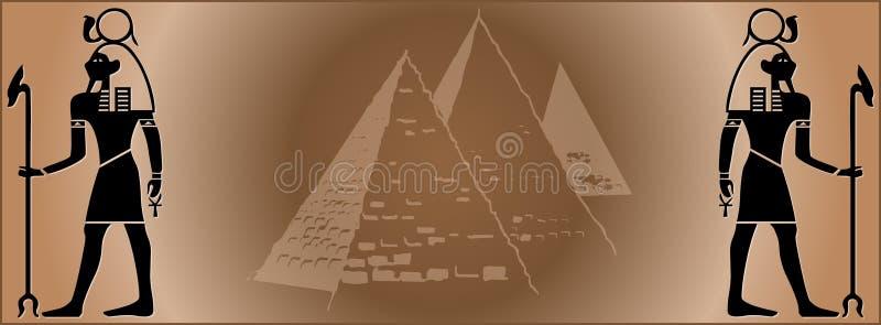 Fahnenweb Ägypten lizenzfreie abbildung
