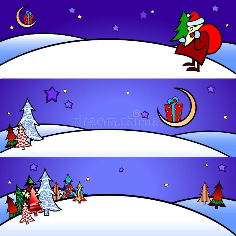 Fahnenweihnachten lizenzfreie abbildung