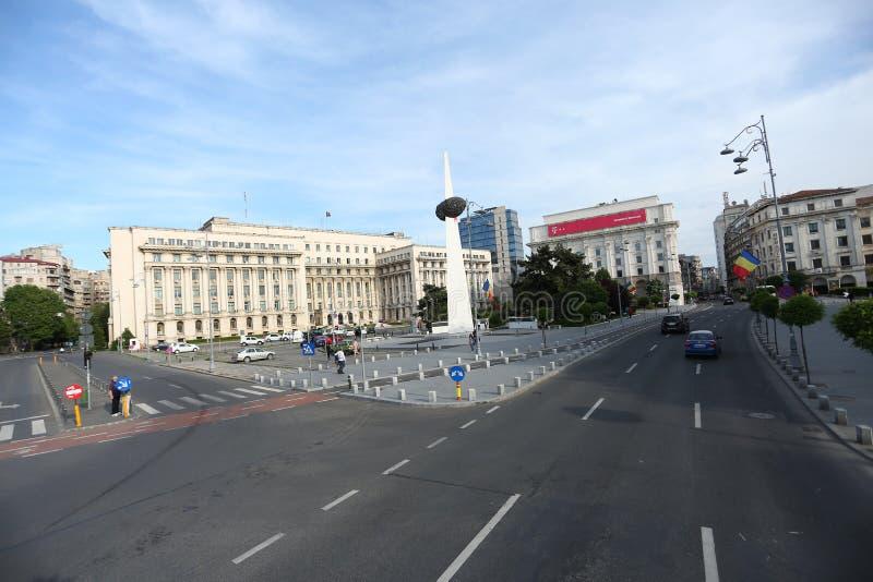 Fahren auf die Straßen von Bukarest stockfoto