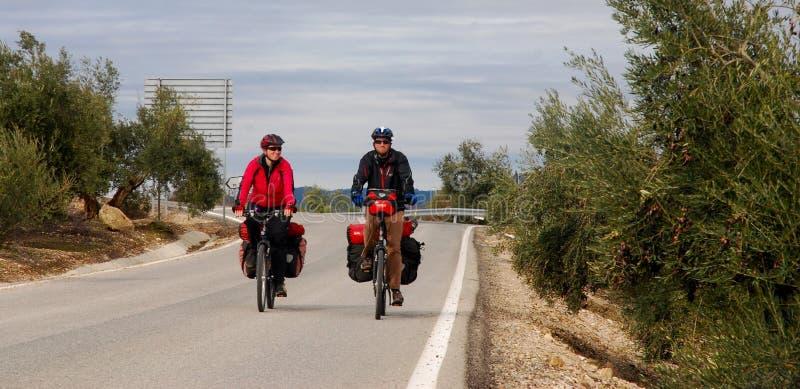 Fahren Sie das Reisen in Spanien rad lizenzfreie stockfotos