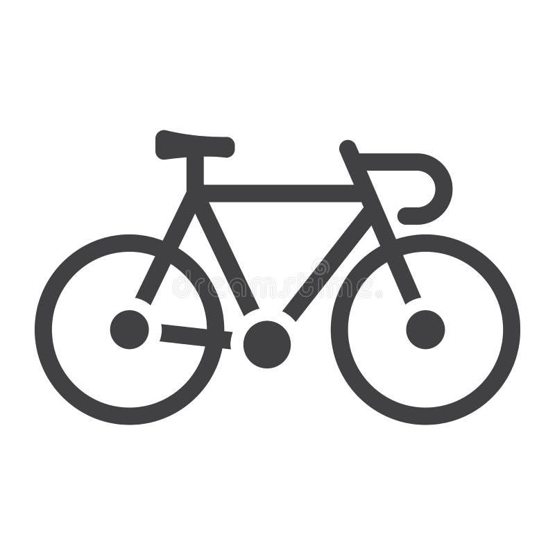Fahren Sie Glyphikone, Transport und Fahrzeug, Fahrrad rad lizenzfreie abbildung