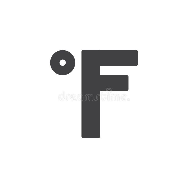 Fahrenheit Degrees Filled Outline Icon Stock Vector Illustration