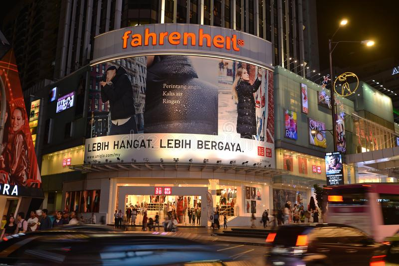 Fahrenheit 88. Is a shopping centre in Bukit Bintang, Kuala Lumpur, Malaysia. The  building reopened in August 2010 after undergoing extensive renovation works stock image