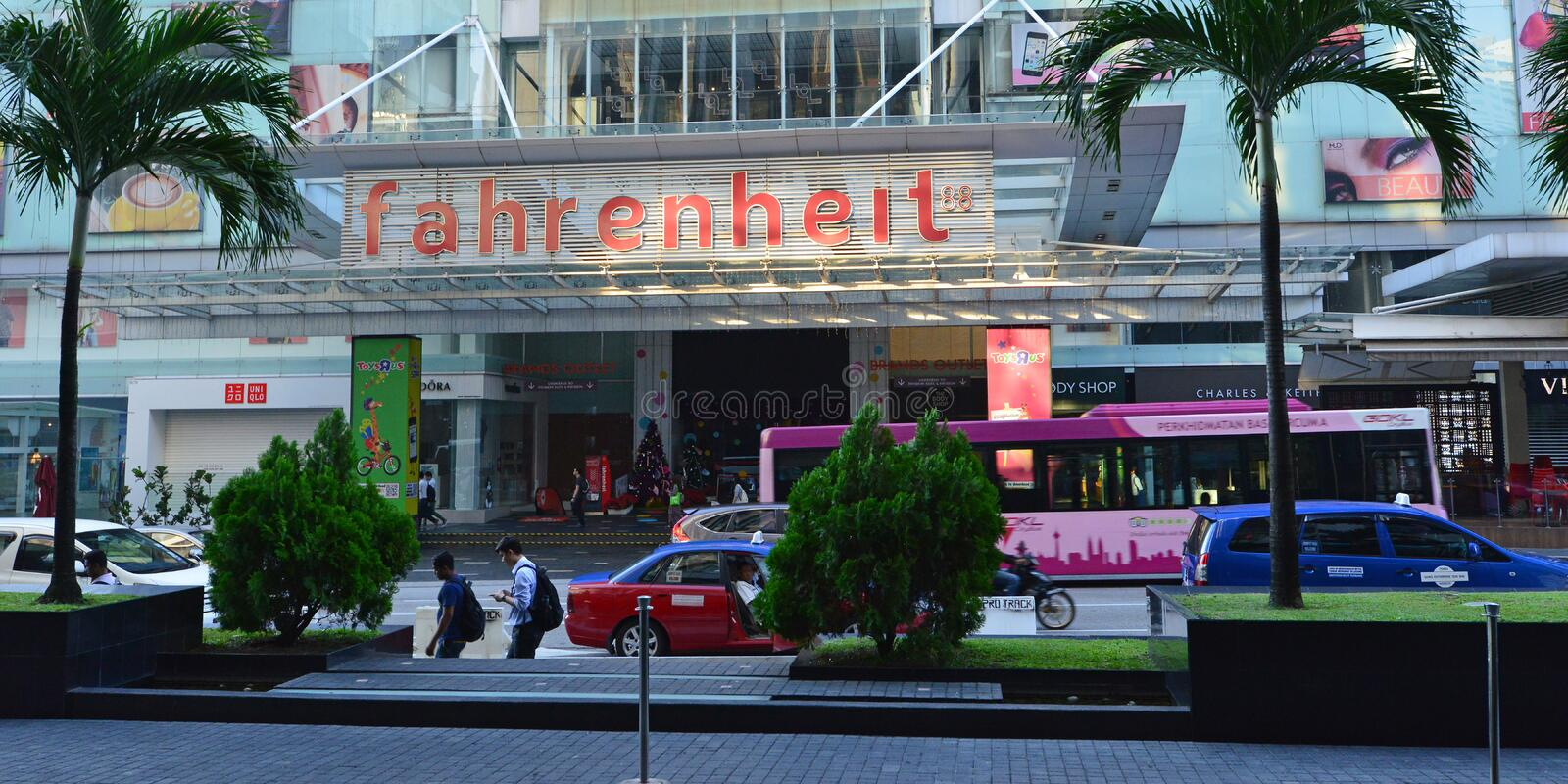 Fahrenheit 88 Shopping Centre. Fahrenheit 88 is a shopping centre in Bukit Bintang, Kuala Lumpur, Malaysia. The Fahrenheit 88 building reopened in August 2010 royalty free stock photos