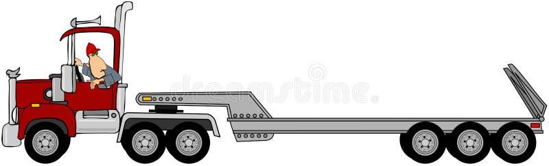 Fahrer, der einen Sattelzug unterstützt vektor abbildung