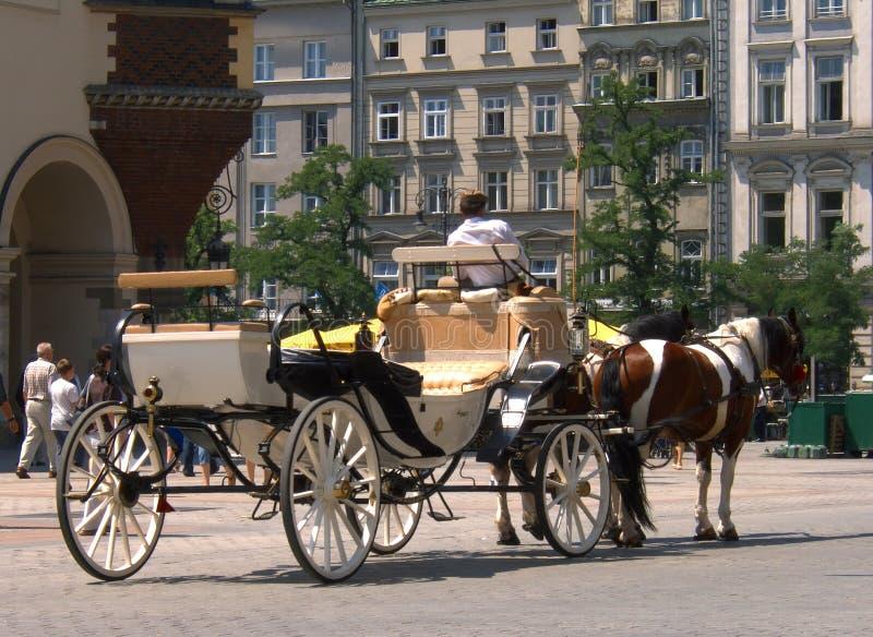 Fahrerhaus in der alten Stadt in Krakau lizenzfreie stockfotos