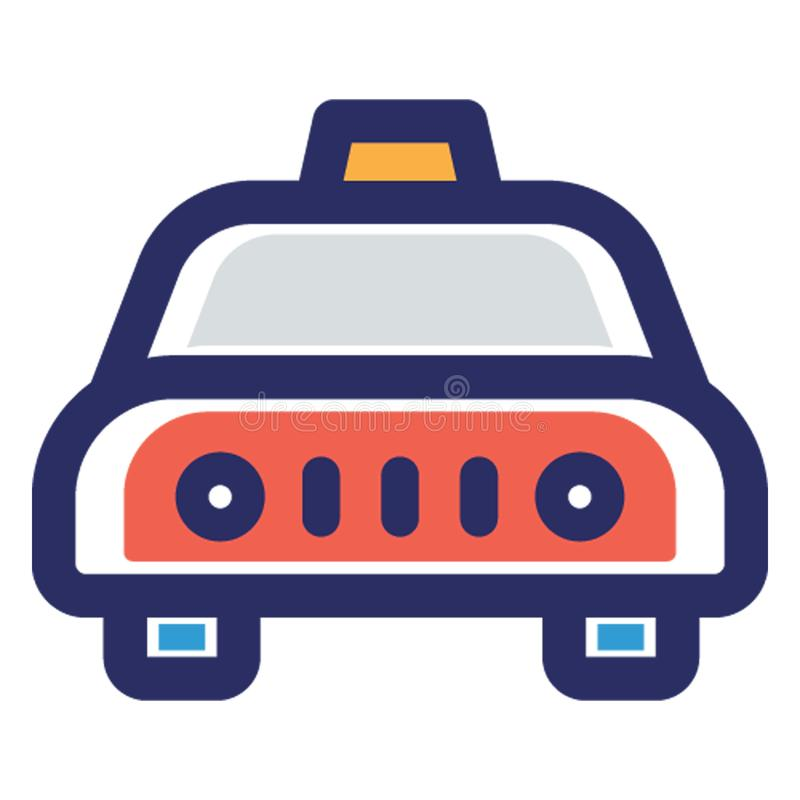 Fahrerhaus, lokale Transport Vektorikone, die leicht ändern oder redigieren kann stock abbildung