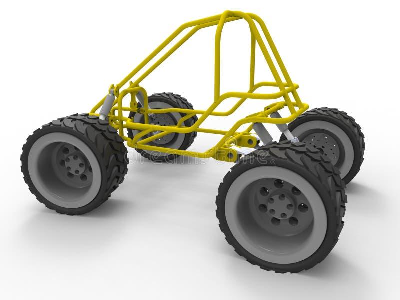 Fahrgestelle 4WD nicht für den Straßenverkehr lizenzfreie abbildung