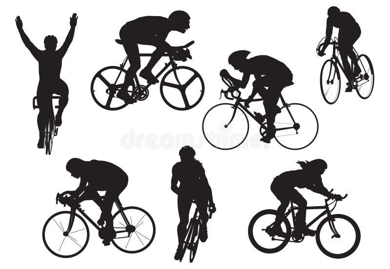 Fahrräder in der Prüfung, Vektor, illu stock abbildung