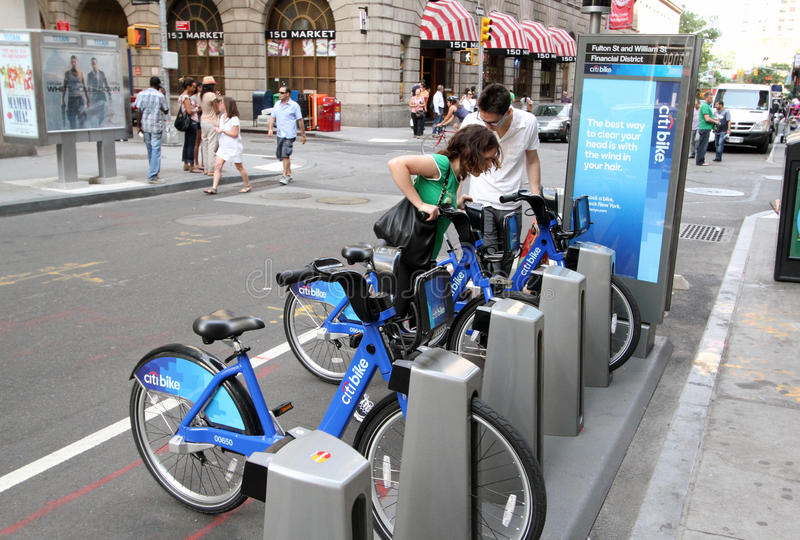 Fahrrad-Anteil NYC lizenzfreie stockbilder