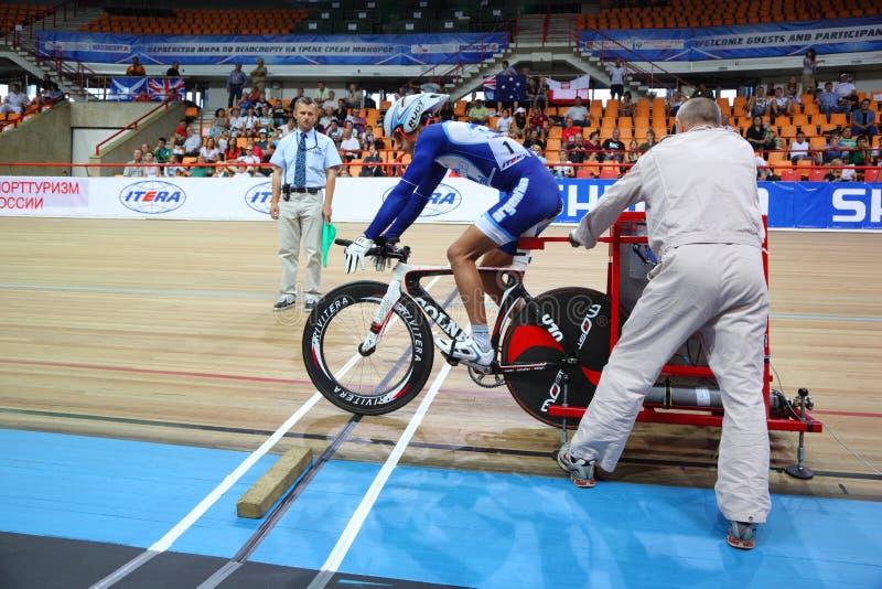 Fahrrad des Konkurrenten von Argentinien lizenzfreie stockbilder