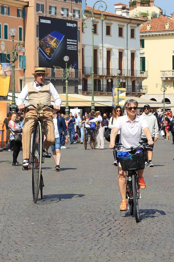Fahrrad-Festival in Verona stockfoto