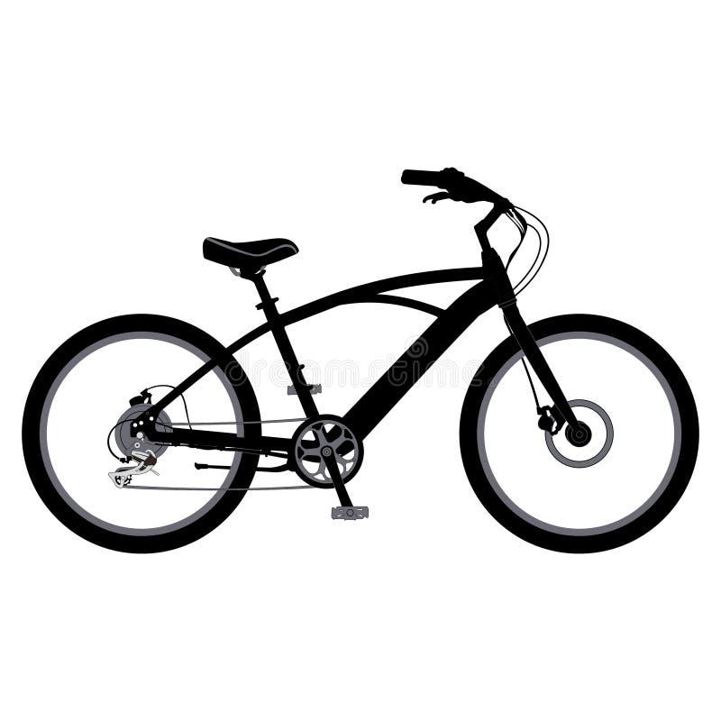 Fahrrad im Vektor lizenzfreies stockfoto