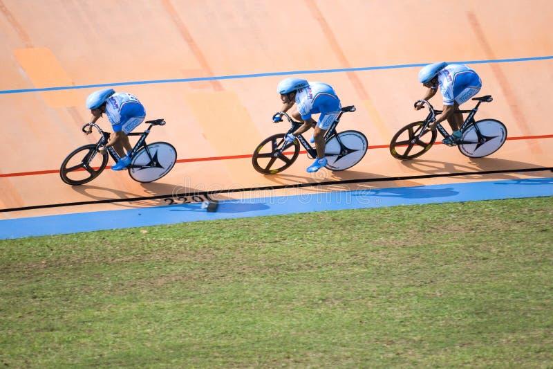Fahrrad-Rennen stockbild