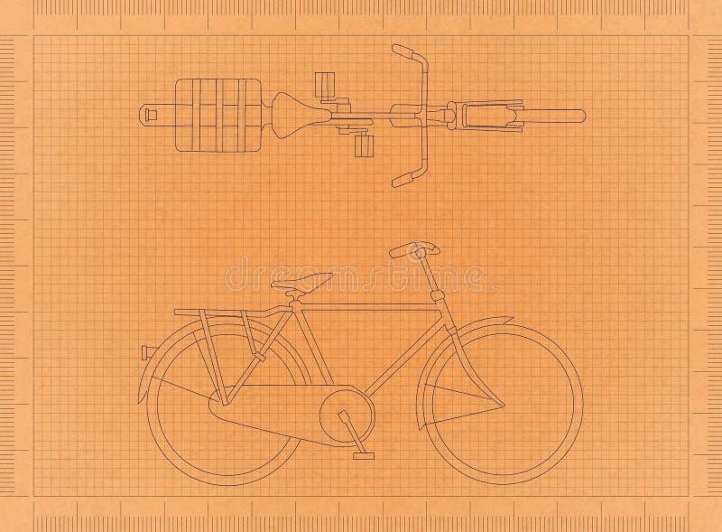 Fahrrad - Retro- Plan lizenzfreie abbildung