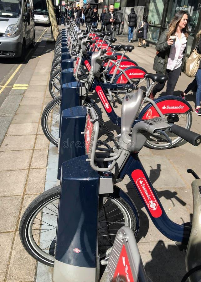 Fahrrad-Teilen des Systems in London lizenzfreies stockbild