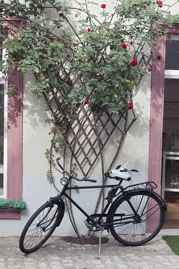 Fahrrad und Gitter stockfotografie