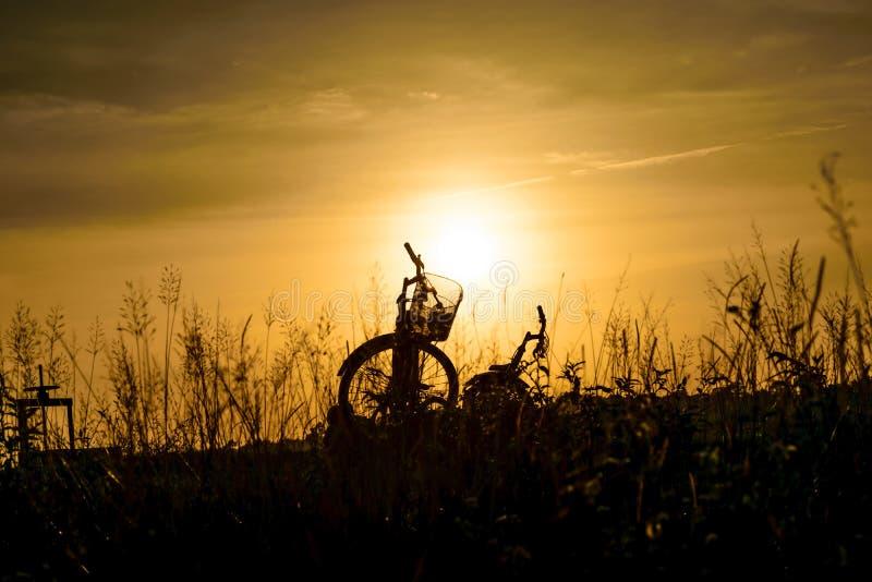 Fahrrad und Sonnenschein stockfoto