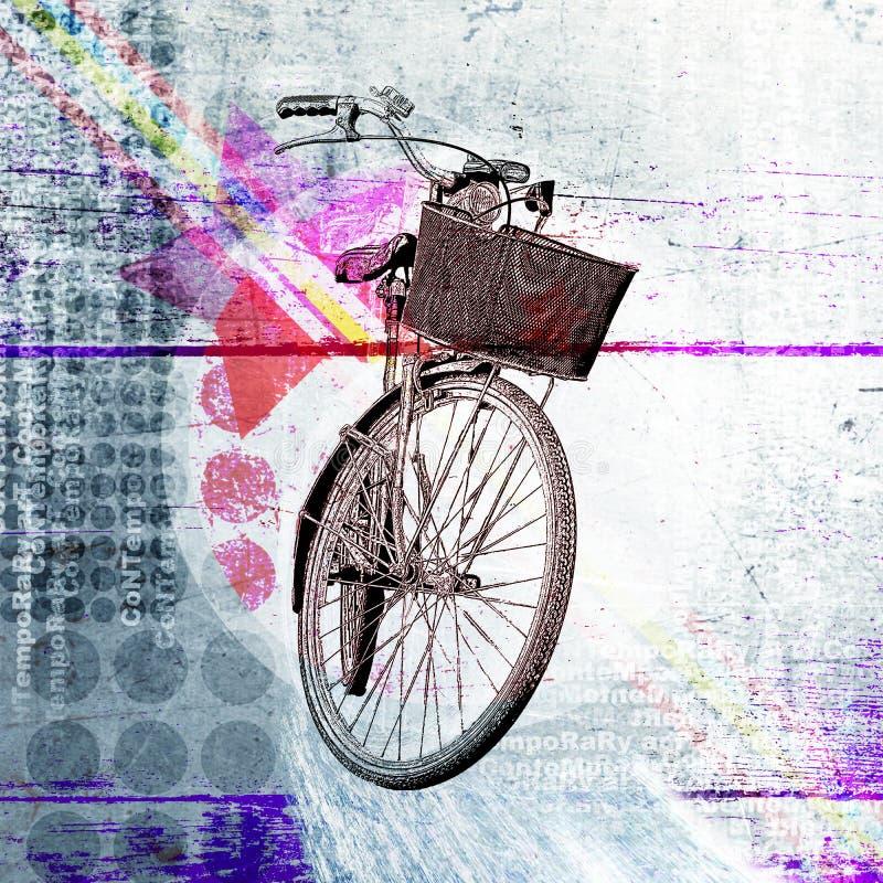 Fahrrad Zeitgenössisches Plakat mit Elementen des Designs vektor abbildung