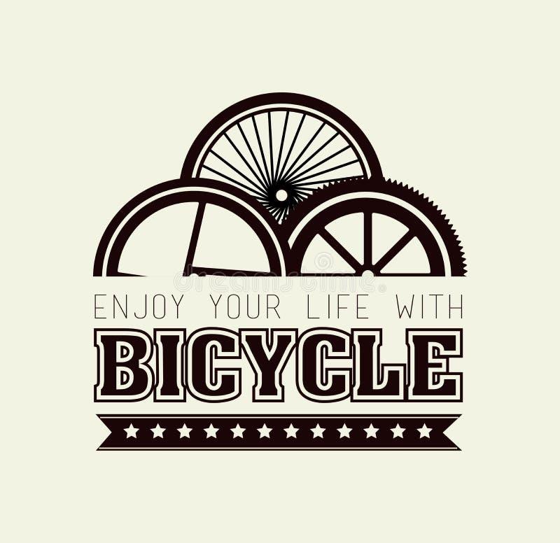 Fahrraddesign lizenzfreie abbildung