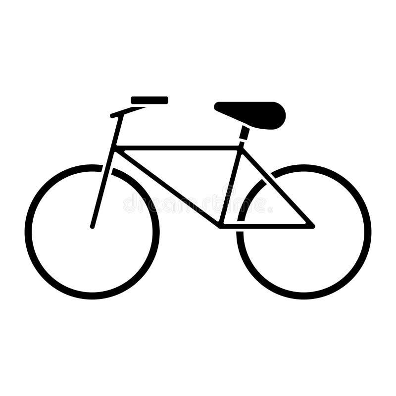 Fahrraderholungs-Transportpiktogramm lizenzfreie abbildung