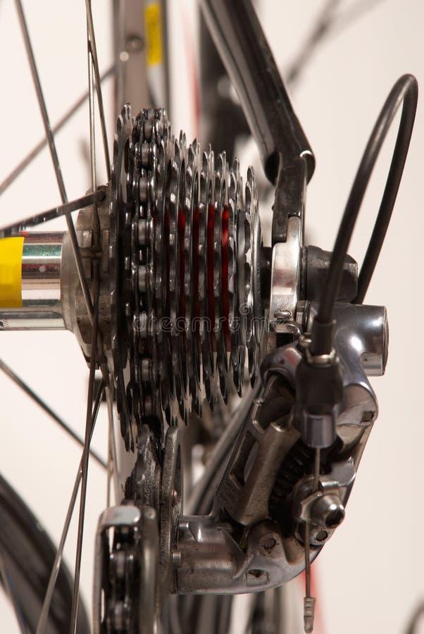 Fahrradgangsystem stockbilder