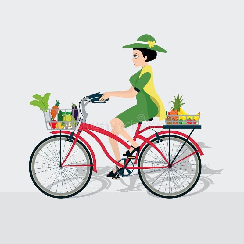 Fahrradgemüse stock abbildung