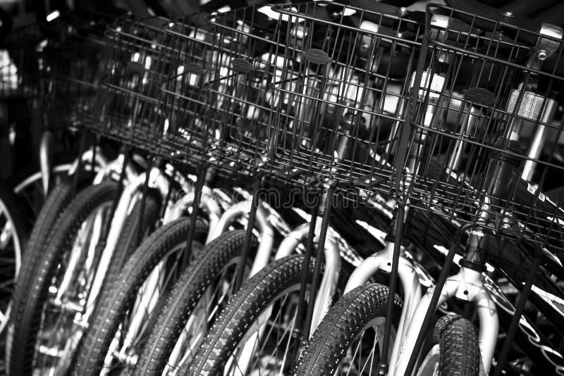 Fahrradkörbe stockbild