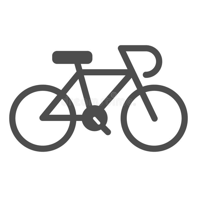 Fahrradk?rperikone Fahrradvektorillustration lokalisiert auf Wei? Sport Glyph-Artdesign, bestimmt f?r Netz und APP ENV vektor abbildung