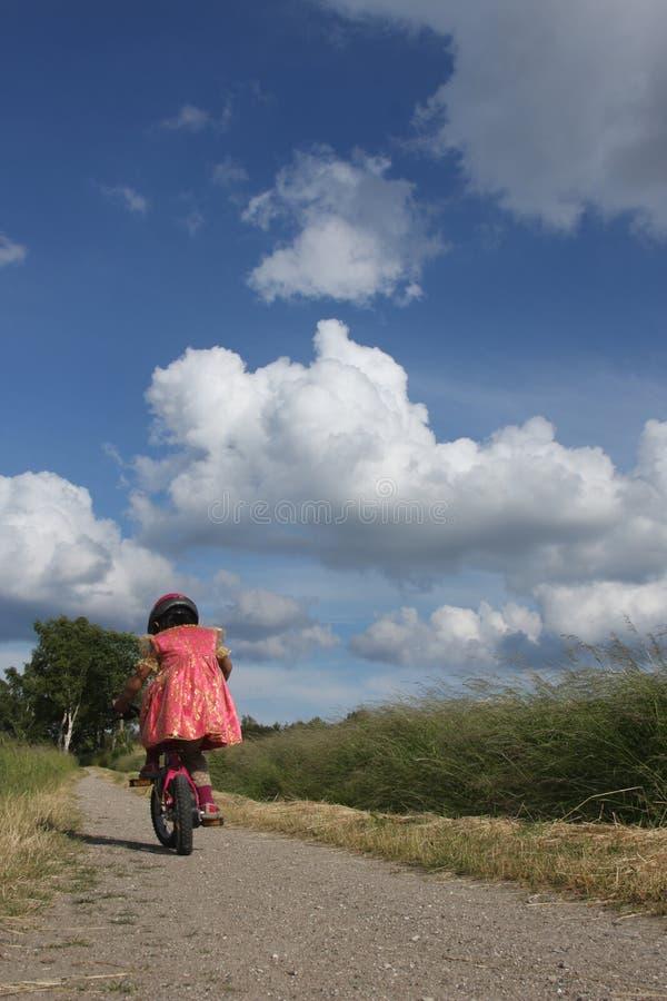 Fahrradkind stockbild