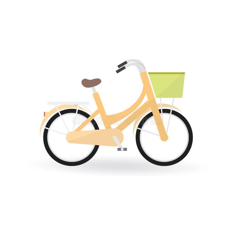 Fahrradkonzept durch allgemeines Fahrrad ist orange Farbe stock abbildung