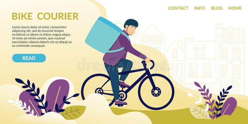 Fahrradkurier gelesen Boten teilen Geräte mit lizenzfreie abbildung