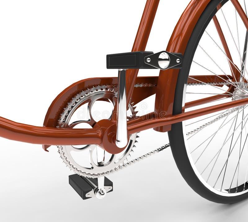 Fahrradnahaufnahme - Pedale lizenzfreies stockfoto