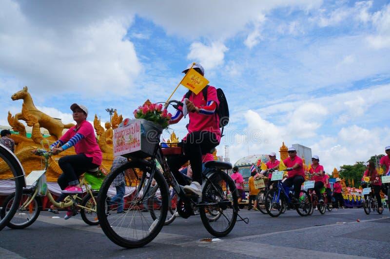 Fahrradparade stockfotografie