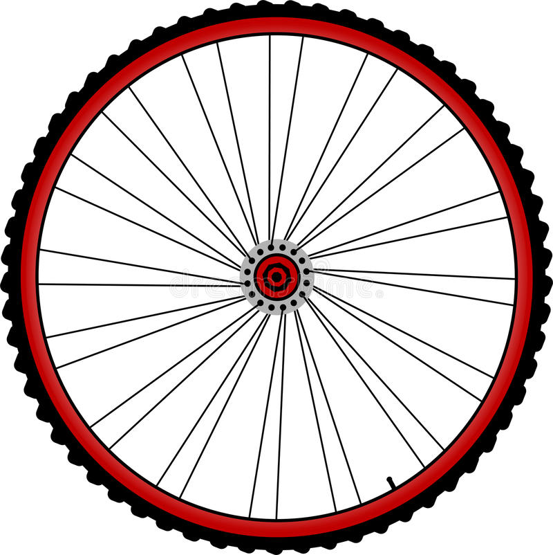 Fahrradräder lizenzfreie abbildung