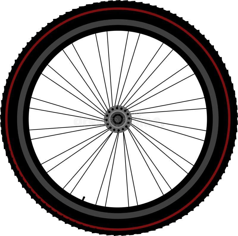 Fahrradradreifenplatte und -gang stock abbildung