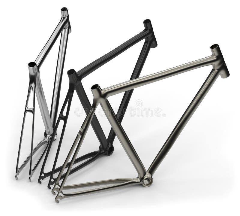 Fahrradrahmen stock abbildung. Illustration von weiß - 51860691