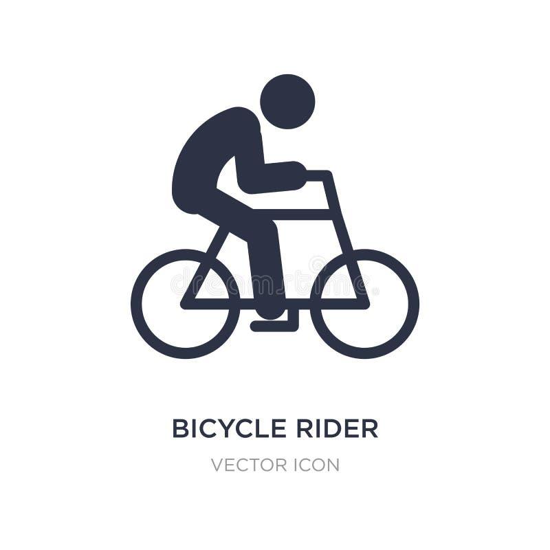 Fahrradreiterikone auf weißem Hintergrund Einfache Elementillustration vom Sportkonzept stock abbildung
